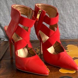 Strapped Red Heels